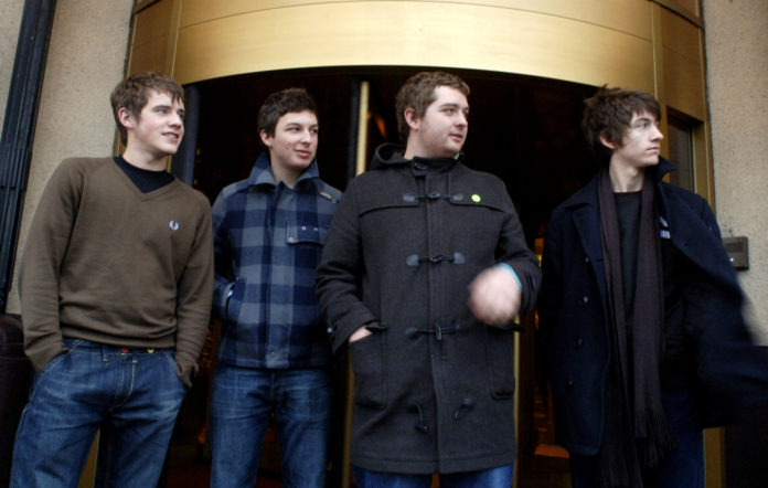 Andy Nicholson with Arctic Monkeys