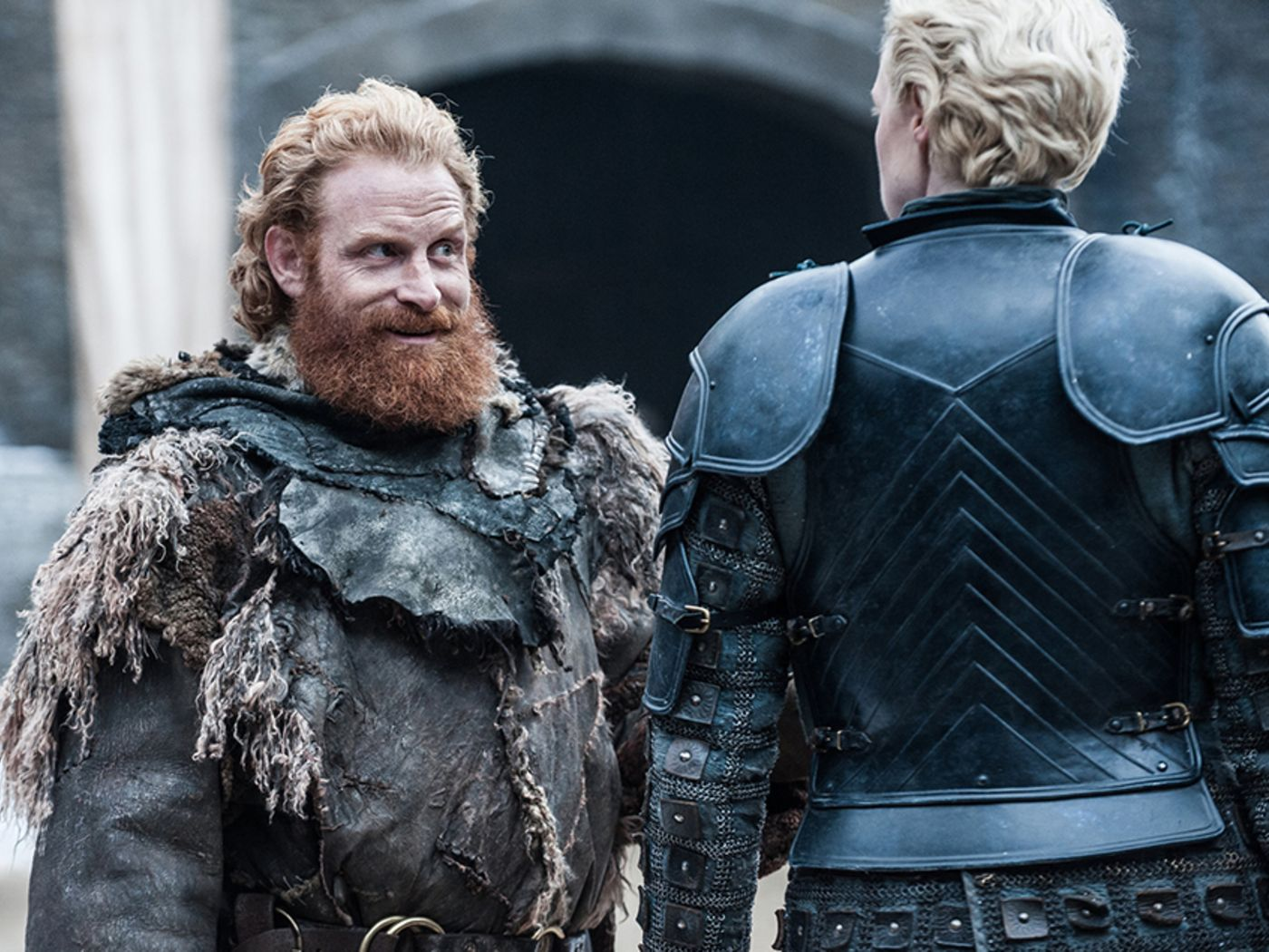 Brienne and Tormund in Game of Thrones season 7