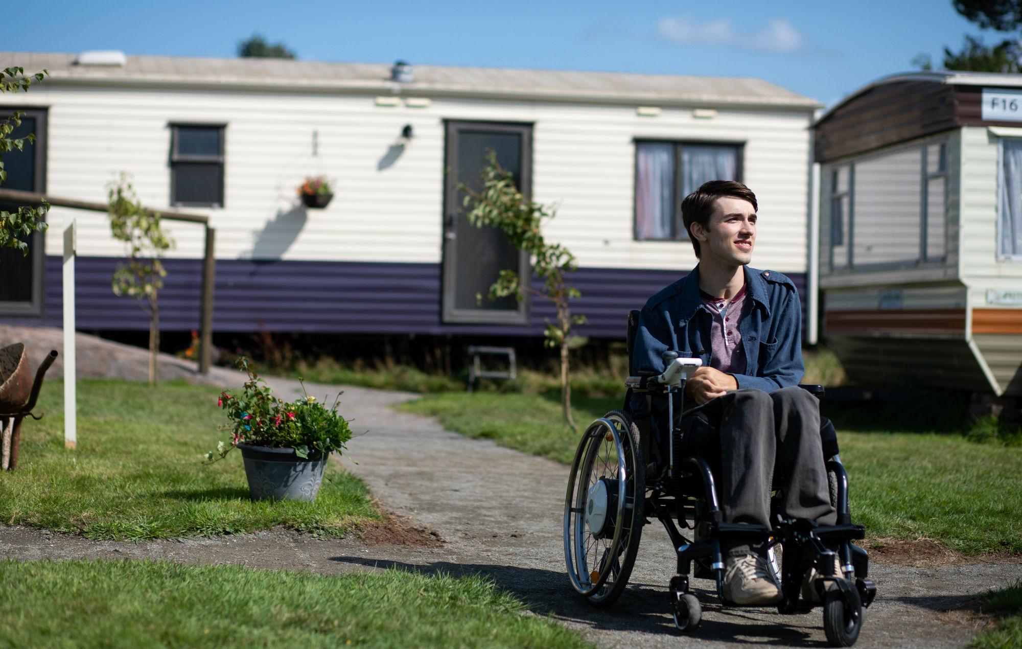 Isaac (George Robinson) in Sex Education season 2
