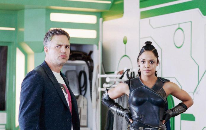 Mark Ruffalo and Tessa Thompson in 'Thor'