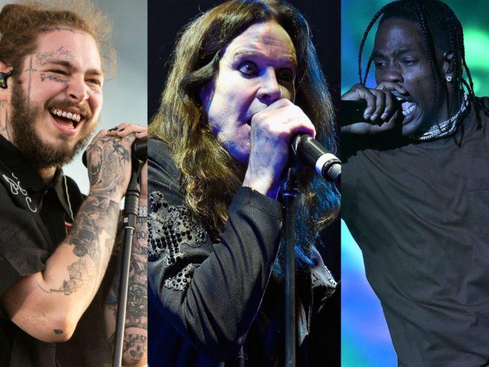 Ozzy Osbourne, Post Malone, Travis Scott