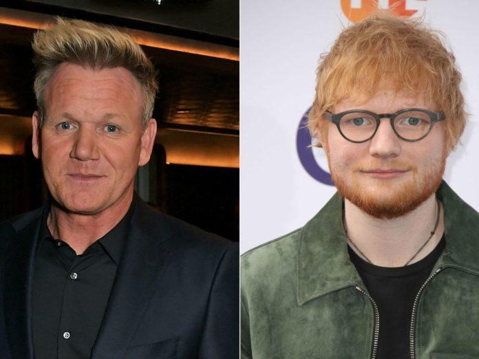 Gordon Ramsay Ed Sheeran