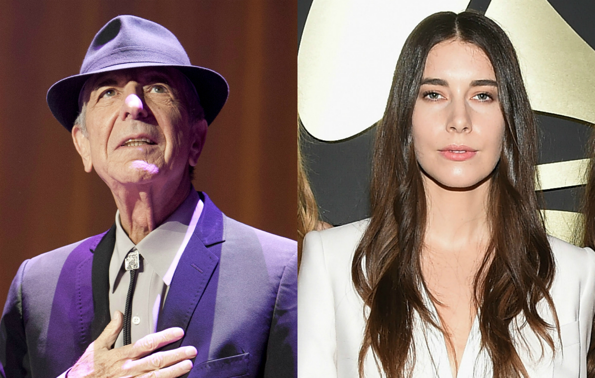 Leonard Cohen and Danielle Haim