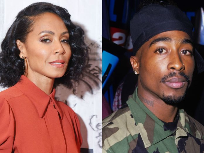 Jada Smith and Tupac Shakur