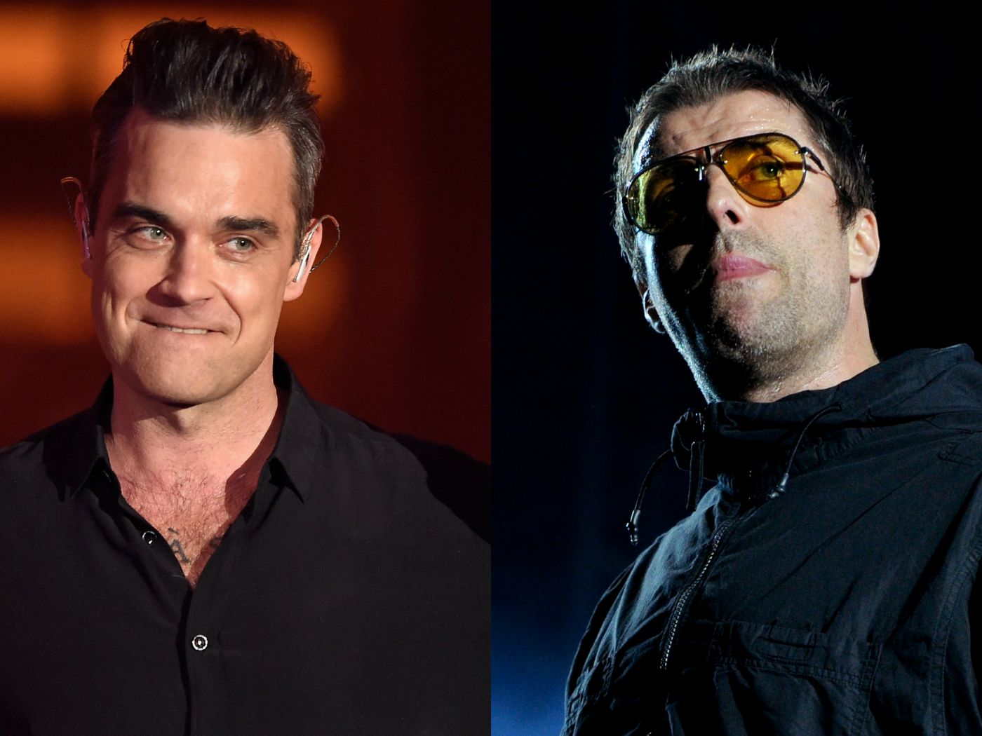 """Robbie Williams says he wants to fight """"school bully"""" Liam Gallagher - NME Music News, Reviews, Videos, Galleries, Tickets and Blogs   NME.COM"""