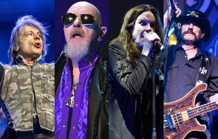 Iron Maiden Judas Priest Black Sabbath Motorhead UK Big Four of metal