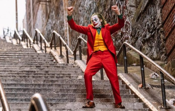 Joker steps scene