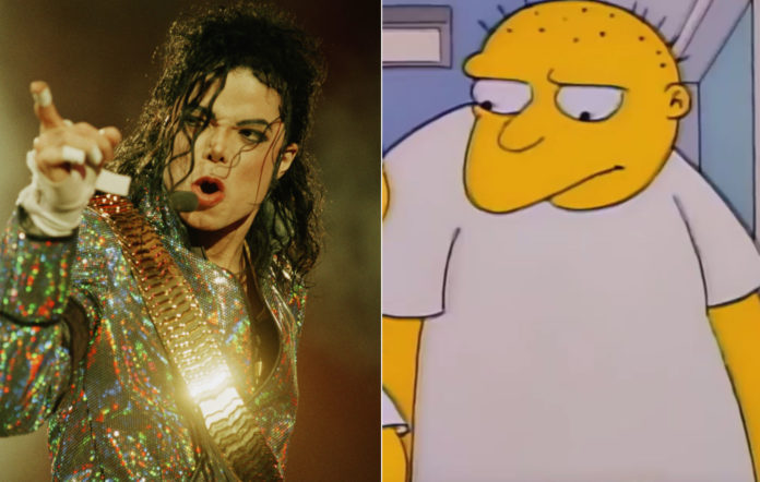 Michael Jackson and his Simpsons counterpart Leon Kompowsky