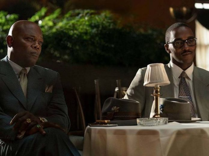 Samuel L. Jackson and Anthony Mackie in 'The Banker'