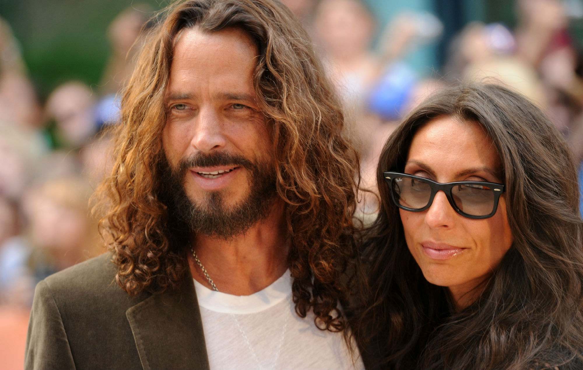 Chris Cornell and his widow Vicky