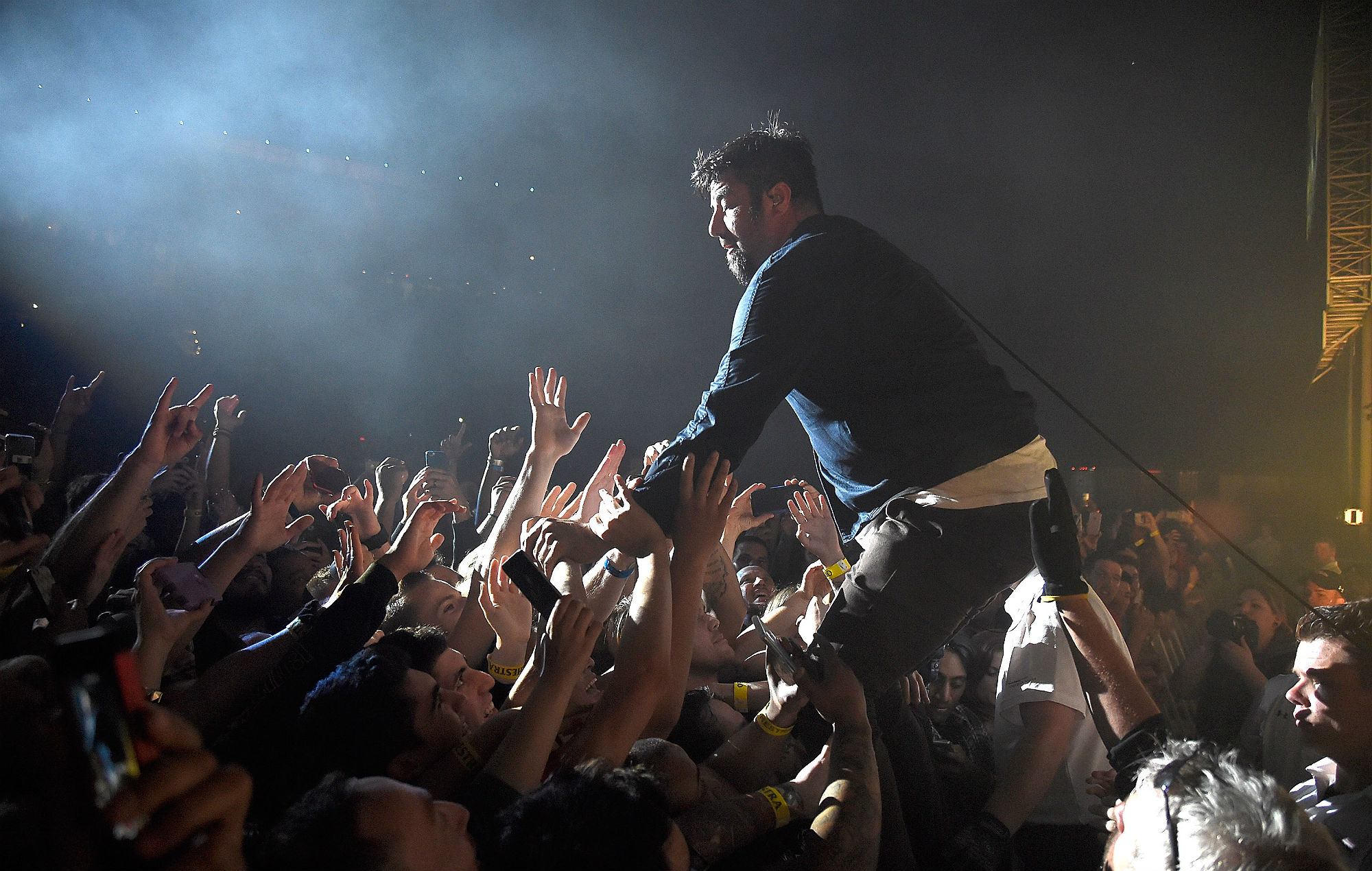 Deftones' Chino Moreno. Credit: Kevin Mazur/Getty Images