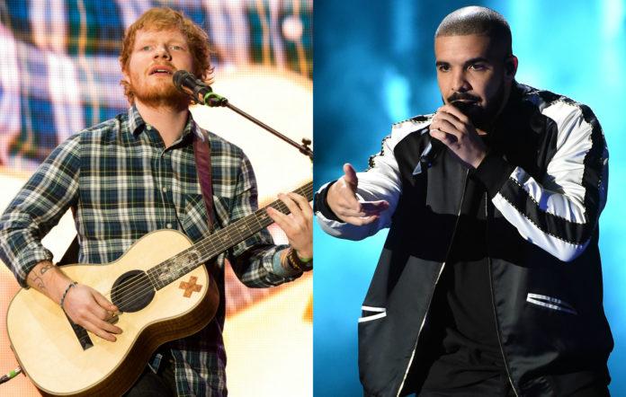 Ed Sheeran and Drake, Spotify