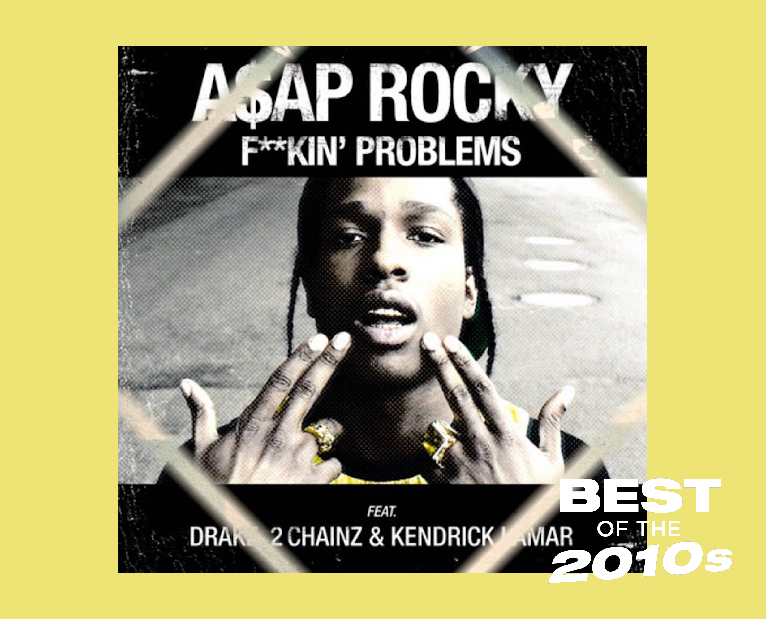 asap rocky fuckin problems artwork