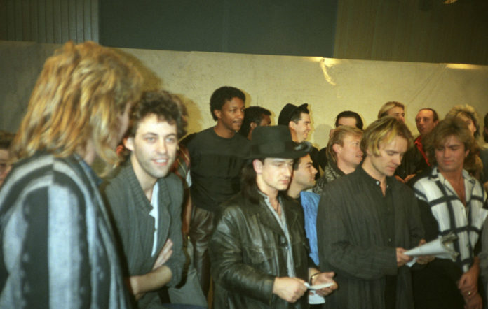 Band Aid Bob Geldof Midge Ure