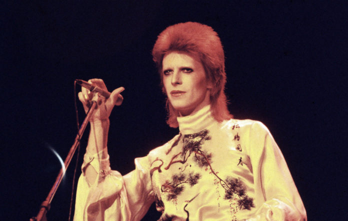 David Bowie performs on stage on his Ziggy Stardust/Aladdin Sane tour