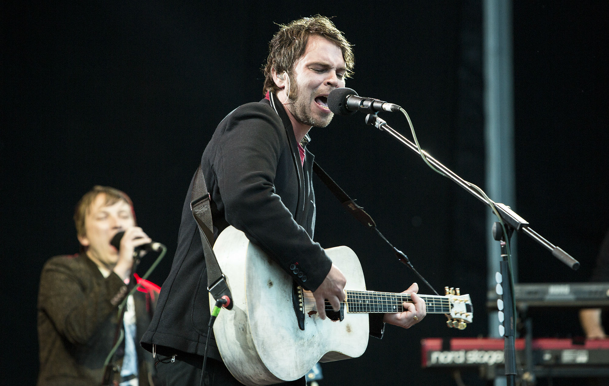 Gaz Coombes performs on stage at Bingley Music Live Festival
