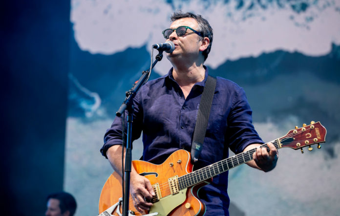 James Dean Bradfield of Manic Street Preachers performs live