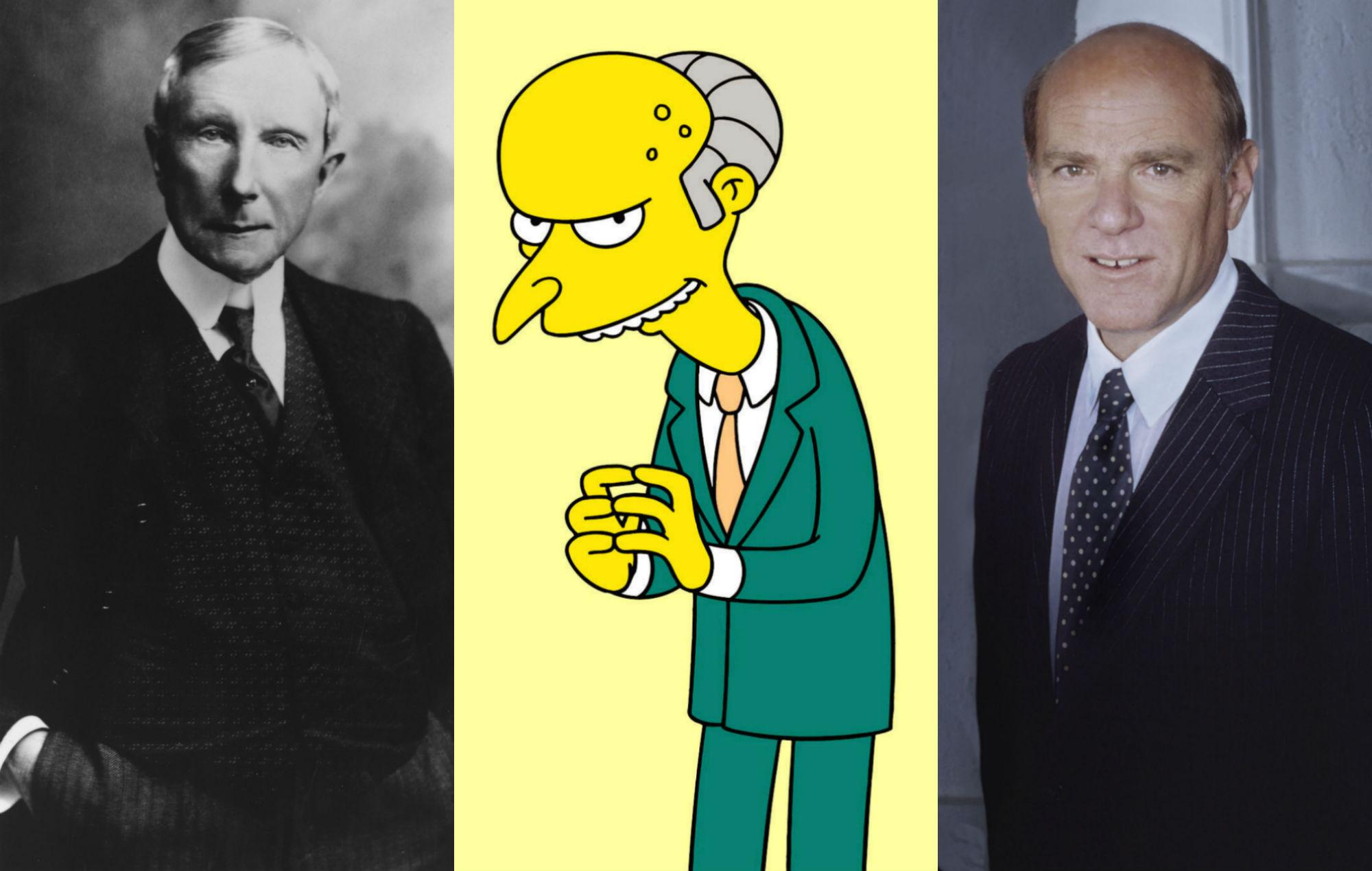 John D. Rockefeller / Mr. Burns / Barry Diller simpsons