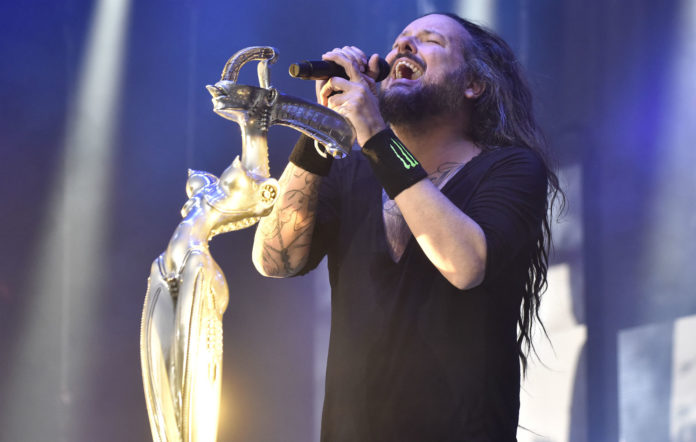 Jonathan Davis of Korn performs during the 2019 Aftershock Music Festival