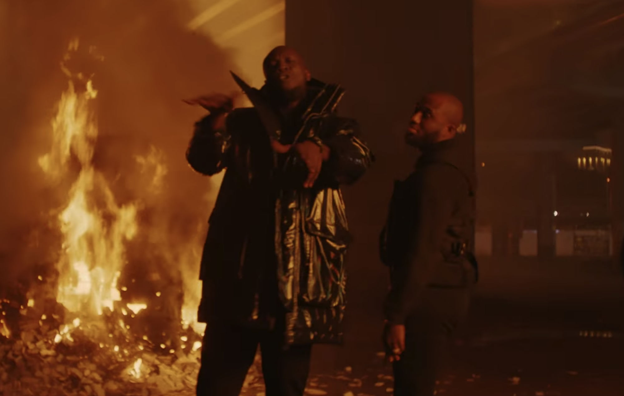 Stormzy and Headie One perform in the 'Audacity' video