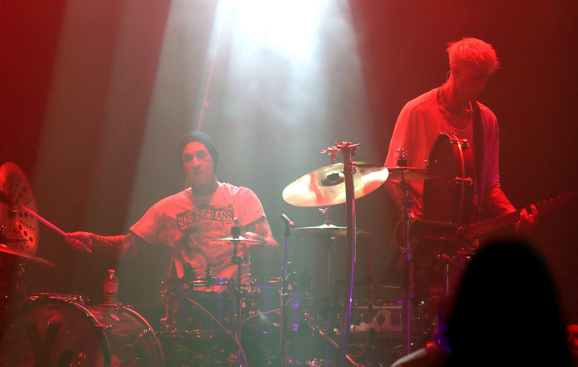 Travis Barker and Machine Gun Kelly perform live in 2019
