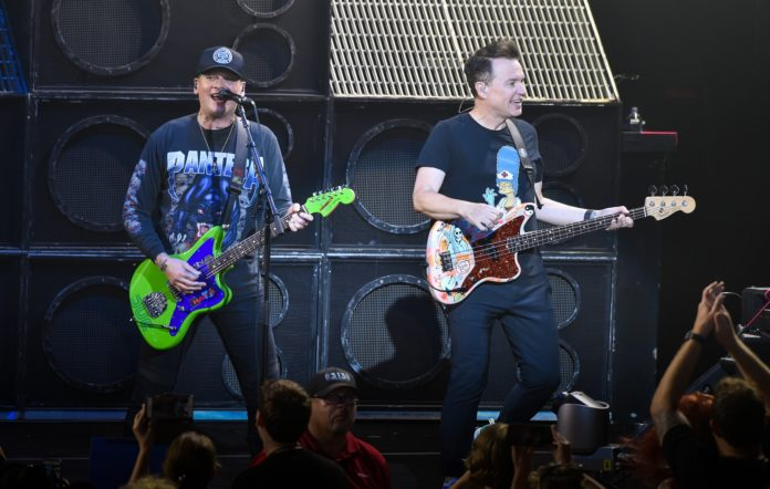 Guitarists Matt Skiba and Mark Hoppus of Blink 182