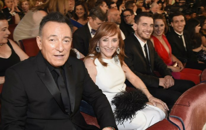 Bruce Springsteen, his wife Patti Scialfa and son Sam Springsteen