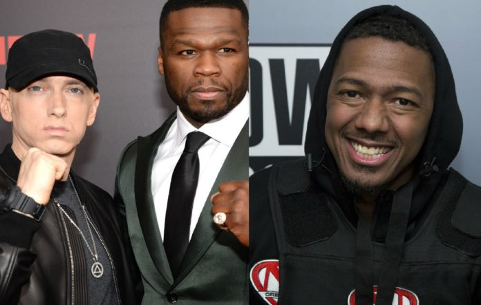 Eminem, 50 Cent and Nick Cannon