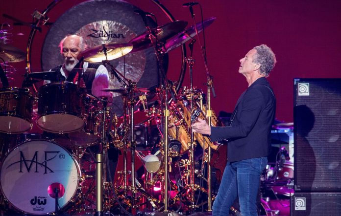 Guitarist/vocalist Lindsey Buckingham and drummer Mick Fleetwood of Fleetwood Mac
