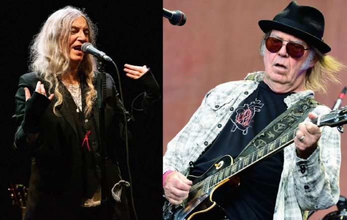 Patti Smith and Neil Young