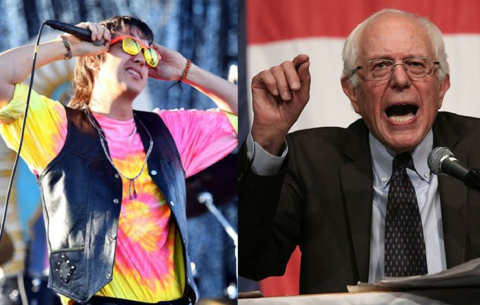 Julian Casablancas from The Strokes and Bernie Sanders