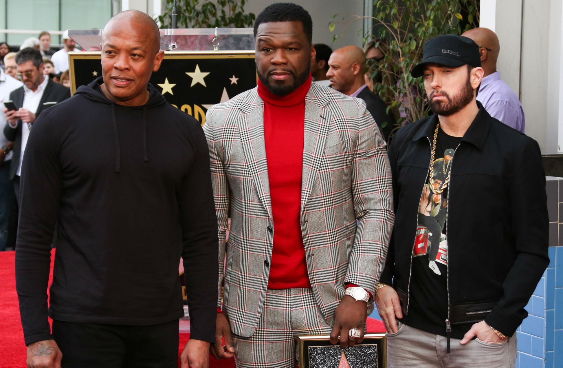 Dr Dre, 50 Cent and Eminem