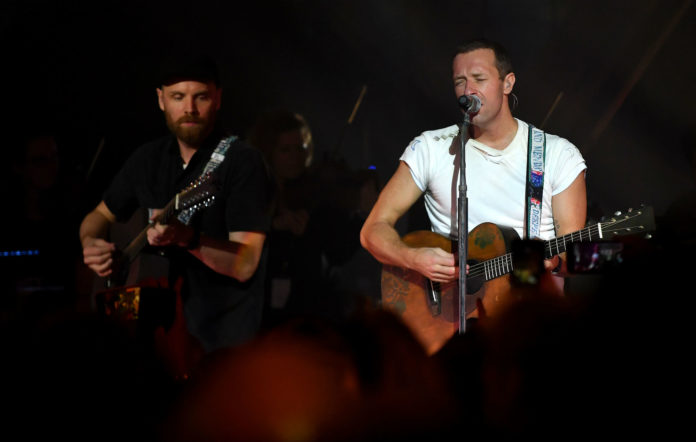 Coldplay, live. Credit: Gareth Cattermole/Getty Images
