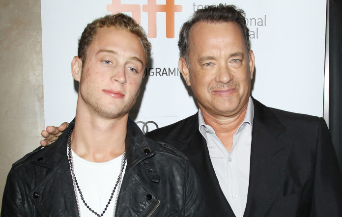 Chet Hanks and Tom Hanks. Credit: Michael Tran/FilmMagic