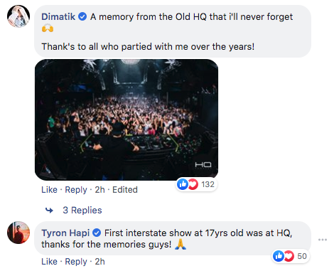 HQ Complex Facebook comments