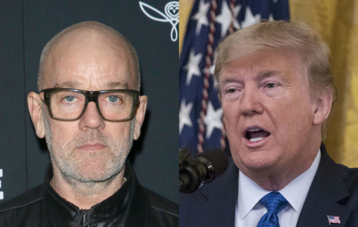 Michael Stipe and Donald Trump