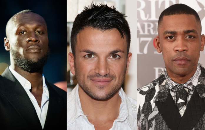 Stormzy, Peter Andre and Wiley