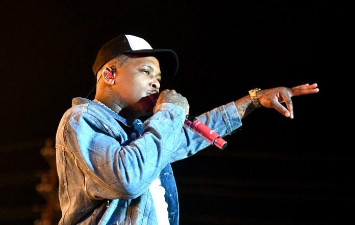 Rapper YG performs in December 2019