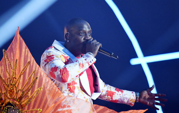 Akon performs on stage during the MTV EMAs 2019