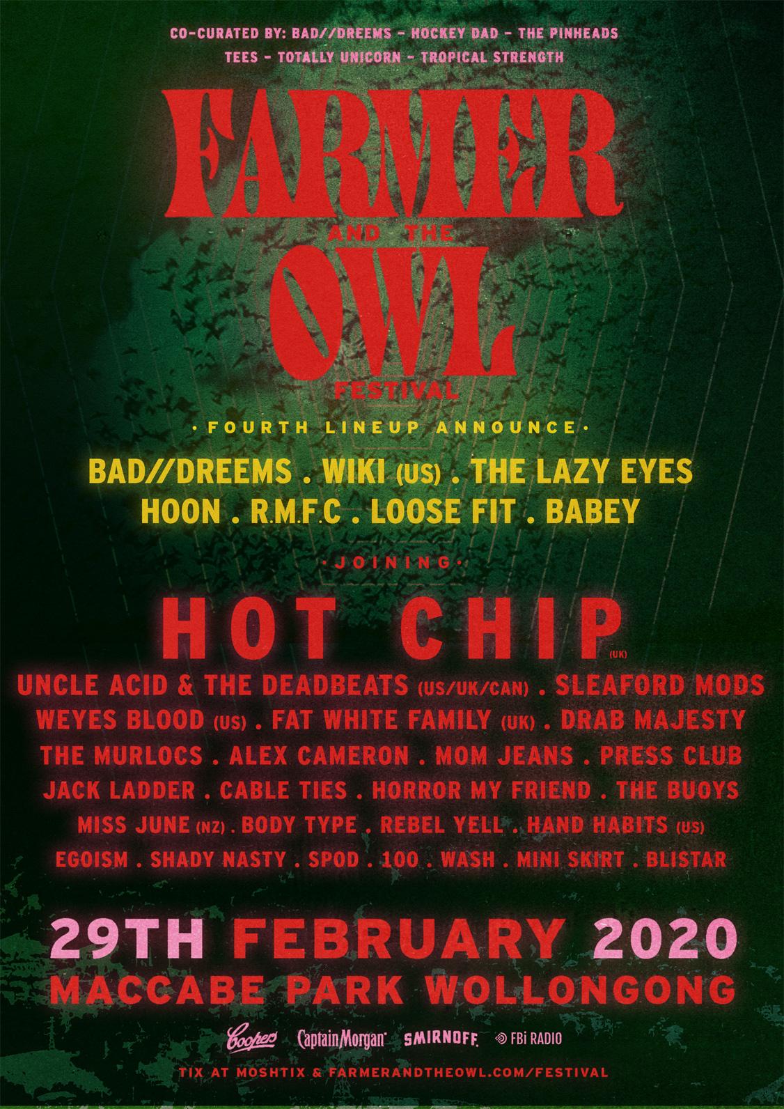 Farmer & The Owl Festival 2020 lineup poster