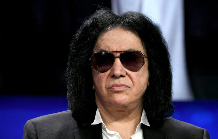 Gene Simmons participates in a panel discussion during the annual Milken Institute Global Conference