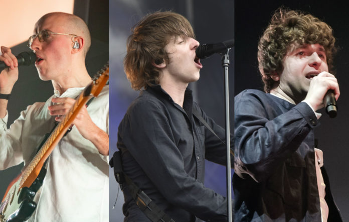 From left to right: Jack Steadman of Bombay Bicycle Club; Van McCann of Catfish and the Bottlemen, and Luke Pritchard of The Kooks