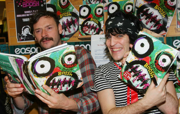 Julian Barratt And Noel Fielding sign copies of their book