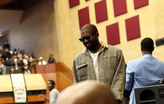Kanye West attends Sunday Service