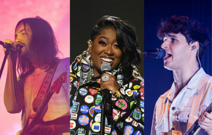 Kevin Parker of Tame Impala; Missy Elliott; Ezra Koenig of Vampire Weekend