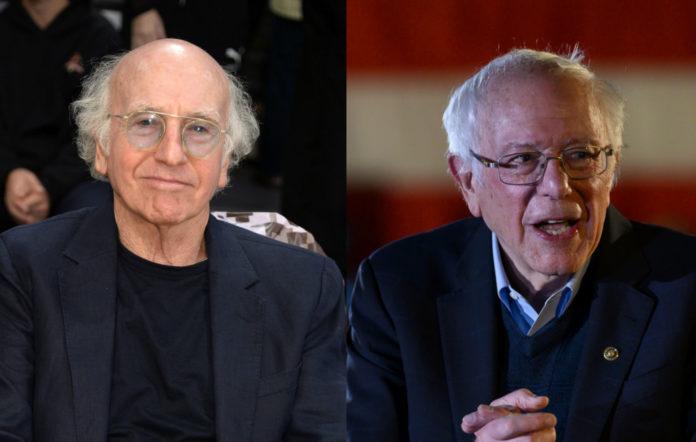 Larry David (l) and Bernie Sanders (r)