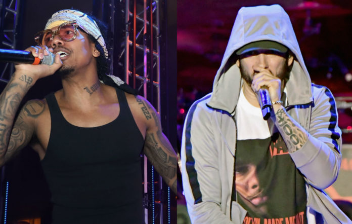 Nick Cannon (l) and Eminem (r)