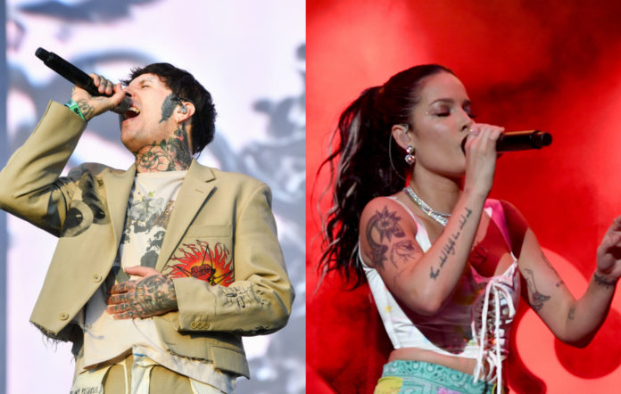 Oli Sykes of Bring Me The Horizon and Halsey