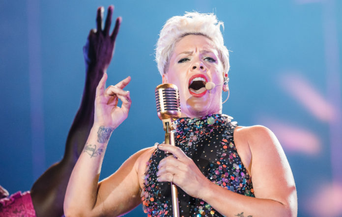 P!nk performs live on stage during day 6 of Rock In Rio Music Festival 2019