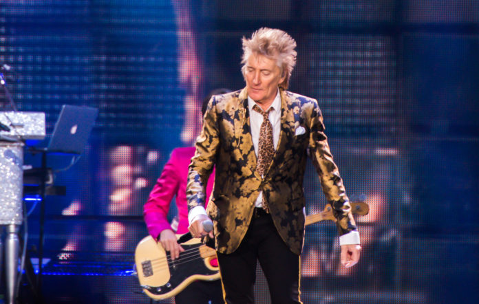 Rod Stewart performs at The O2 Arena on December 17, 2019